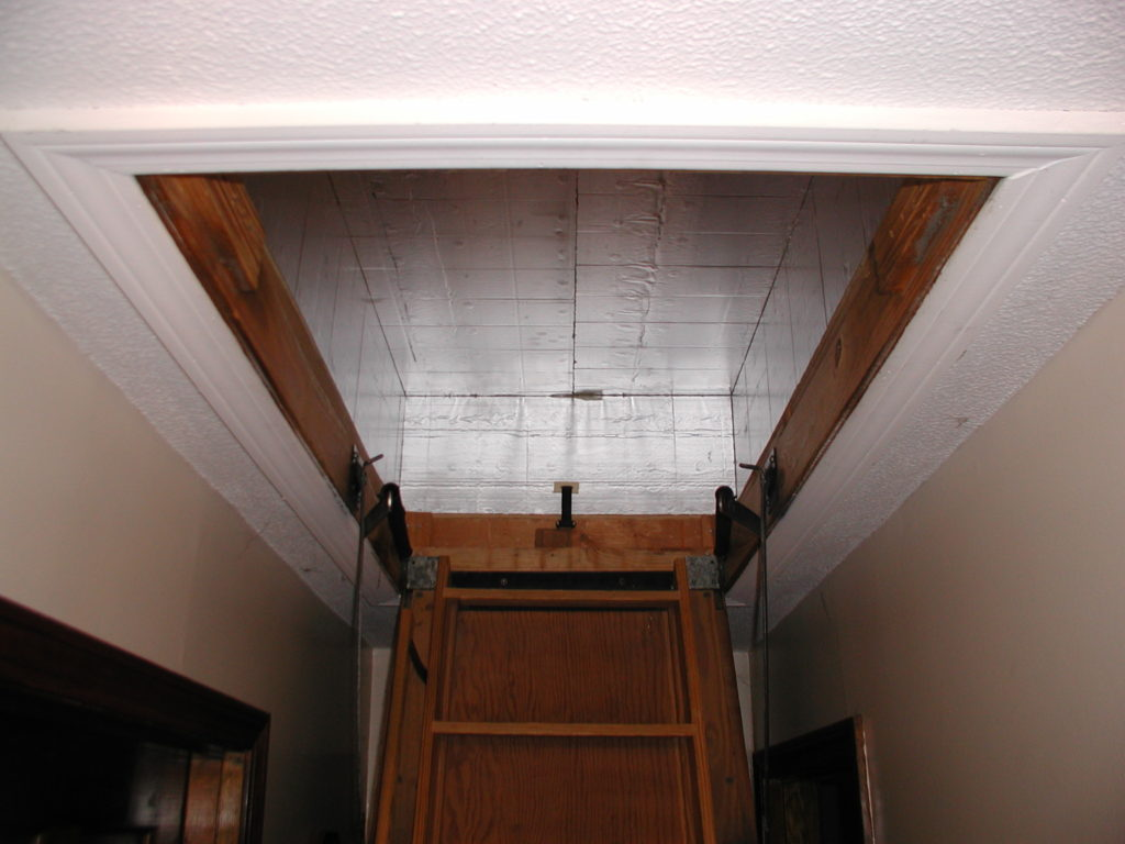 Attic Stair Cover in place
