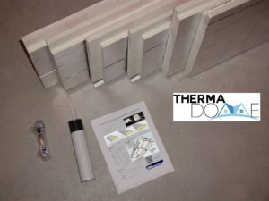 Therma-Dome Stair Cover components